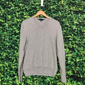 Gap Grey V-Neck Long Sleeve Sweatshirt